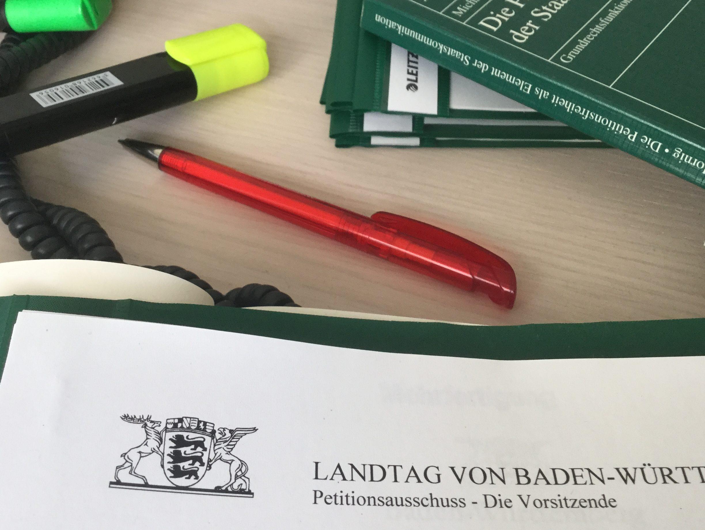 Symbolbild: Unterlagen des Landtags von Baden-Württemberg