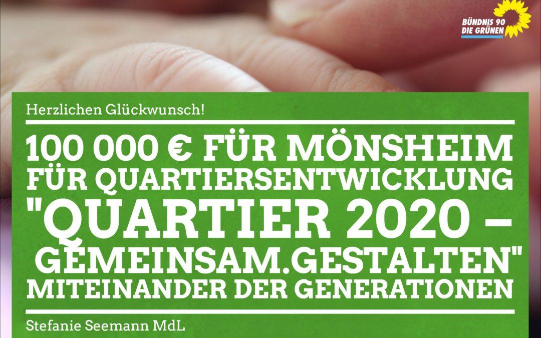 Mönsheim erhält 100 000 Euro für Quartiersentwicklung