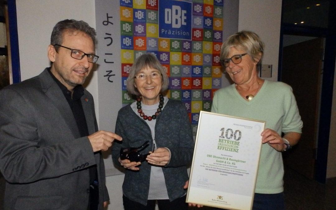 Herzlichen Glückwunsch an OBE zum Deutschen Rohstoffeffizienz-Preis 2017