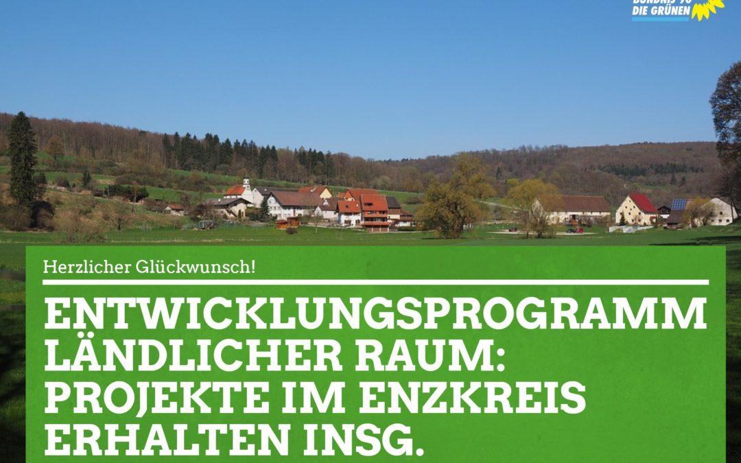Entwicklungsprogramm Ländlicher Raum: 482.740 Euro gehen nach Neulingen, Neuhausen und Engelsbrand