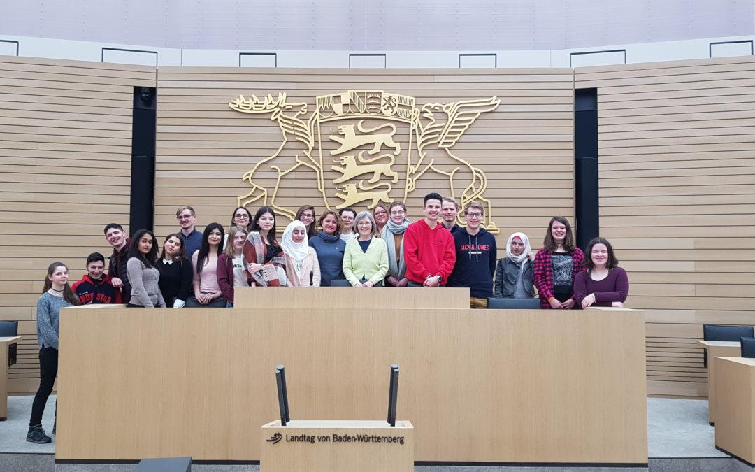 Besuch Jugendgruppe Landtag