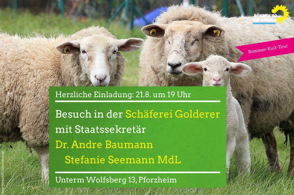 Obstsortenmuseum und beim Biohof Schäferei Golderer mit Umweltstaatssekretär Dr. Andre Baumann
