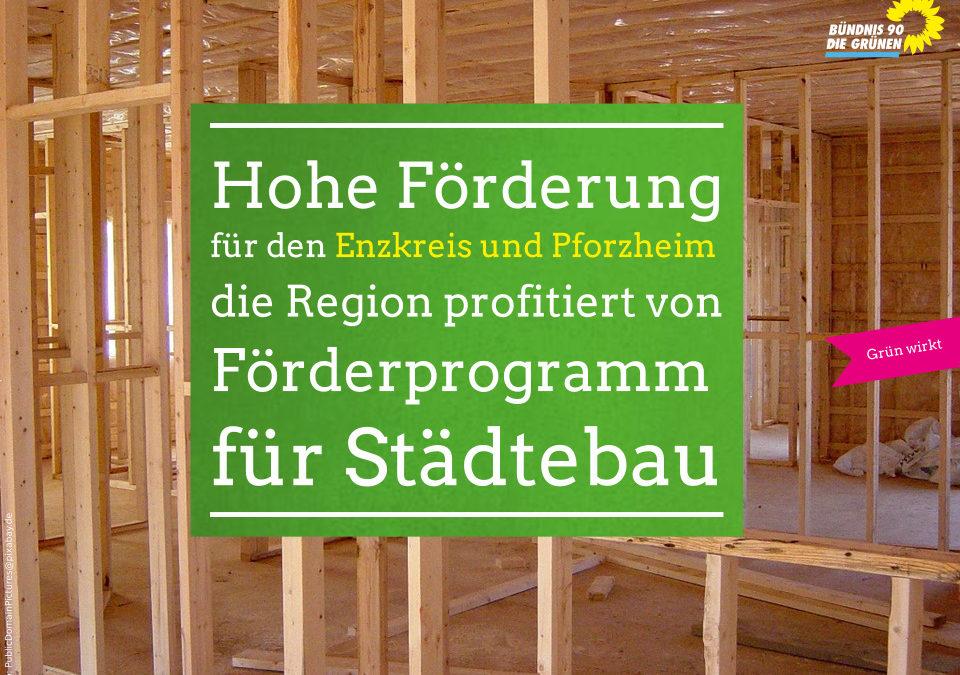 Hohe Förderung für den Enzkreis und Pforzheim – die Region profitiert von Förderprogramm für Städtebau