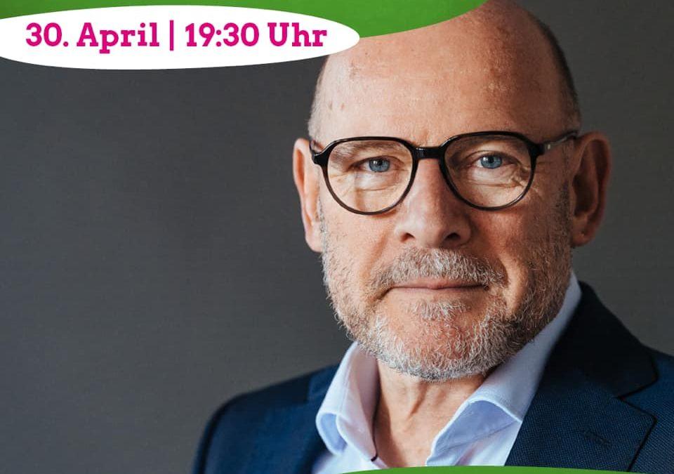 Sharepic für den Digitalen Salon mit Verkehrsminister Winfried Herrmann