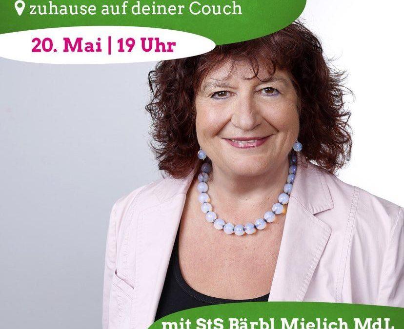 Sharepic für den Digitalen Salon mit Bärbl Mielich