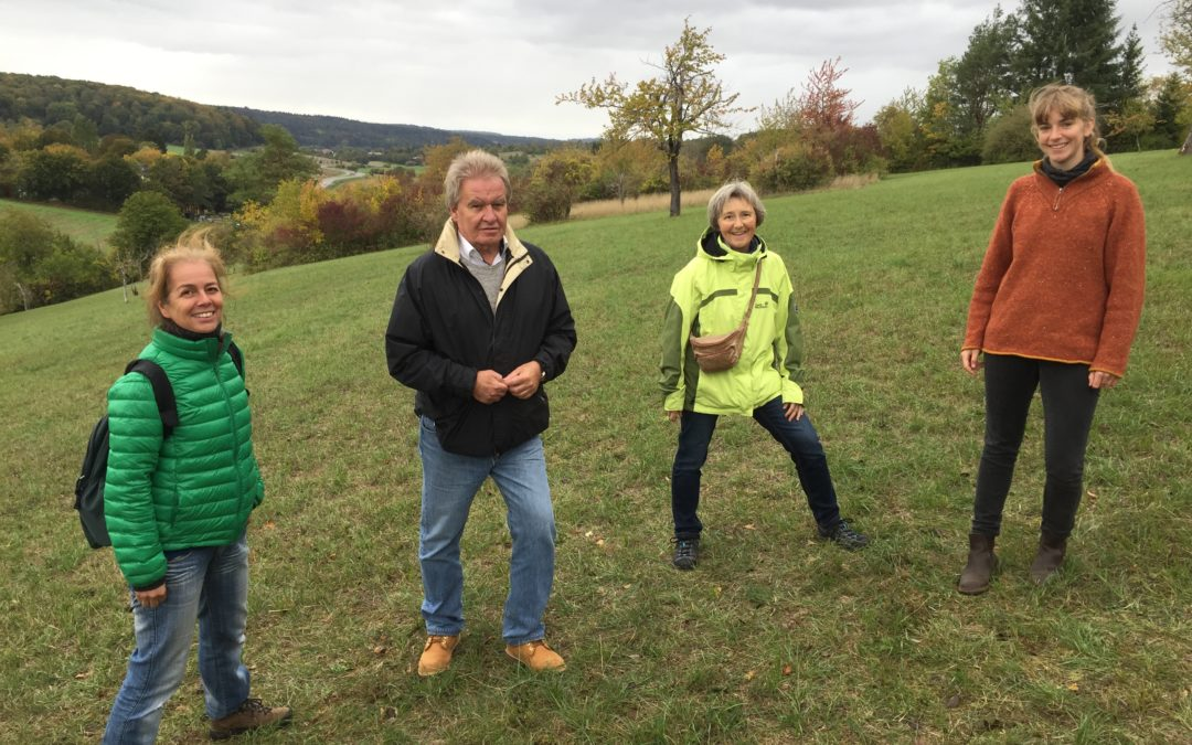 Umweltminister Untersteller besucht Ersinger Naturschutzgebiet Springenhalde
