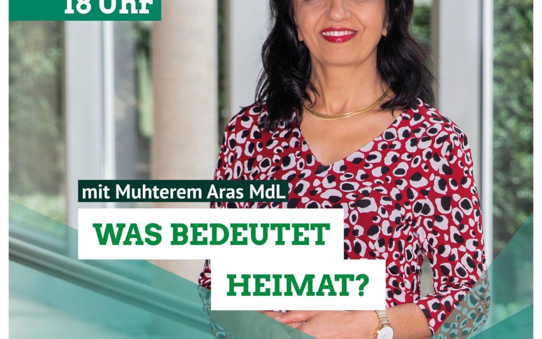 Stefanie Seemann diskutiert mit Muhterem Aras über den Begriff Heimat